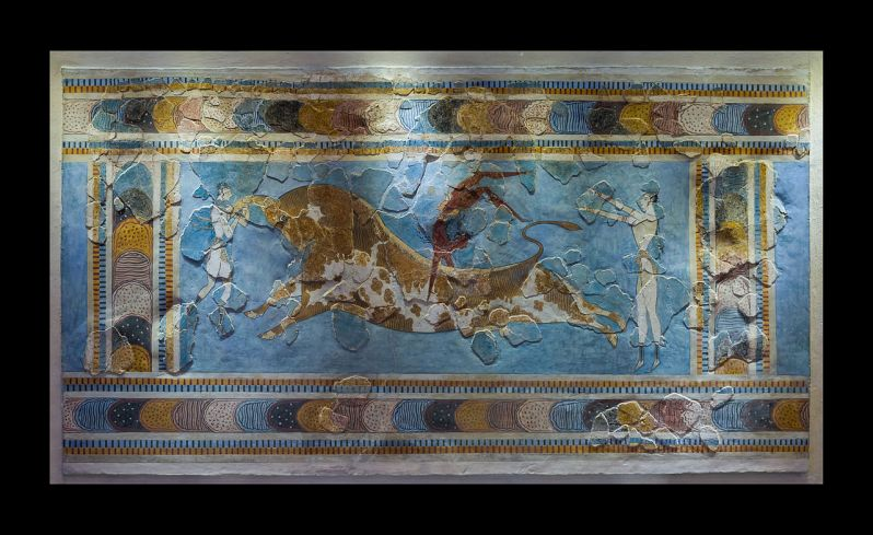 Bull-Leaping Fresco